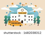 school closed due to social... | Shutterstock .eps vector #1682038312