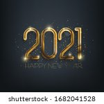 happy new year 2021 background... | Shutterstock .eps vector #1682041528