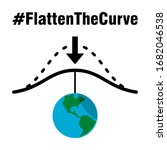 flatten the curve hashtag icon... | Shutterstock .eps vector #1682046538