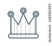 crown line style icon design ... | Shutterstock .eps vector #1682061592