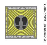 please keep a safe distance.... | Shutterstock .eps vector #1682078845
