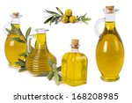 composition of oil bottles and... | Shutterstock . vector #168208985