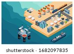 oil and gas refinery concept 3d ... | Shutterstock .eps vector #1682097835