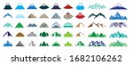 mountain icon set of various... | Shutterstock .eps vector #1682106262