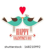 happy valentine's day lettering ... | Shutterstock .eps vector #168210992