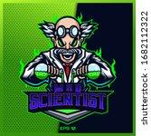 crazy doctor scientist esport... | Shutterstock .eps vector #1682112322