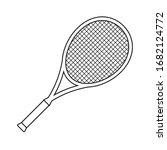 Vector Flat Outline Tennis...