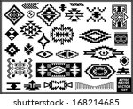 aztec native navajo design... | Shutterstock .eps vector #168214685