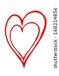 red outline heart silhouette | Shutterstock . vector #168214856