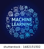 machine learning signs round... | Shutterstock .eps vector #1682151502