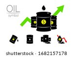 vector set of 5 sign oil. black ... | Shutterstock .eps vector #1682157178