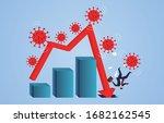 globally spread new coronavirus ... | Shutterstock .eps vector #1682162545