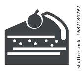 cake black icon on white...   Shutterstock .eps vector #1682184292