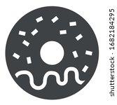 donut black icon on white...   Shutterstock .eps vector #1682184295