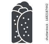 shawarma black icon on white...   Shutterstock .eps vector #1682187442