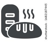 bread black icon on white...   Shutterstock .eps vector #1682187445