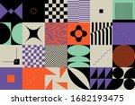 bauhaus composition artwork... | Shutterstock .eps vector #1682193475