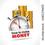 stopwatch   time to make money | Shutterstock .eps vector #168219605