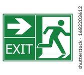 emergency exit door vector....   Shutterstock .eps vector #1682203612