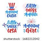 little miss america  american... | Shutterstock .eps vector #1682212042