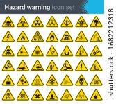 hazard warning signs. set of... | Shutterstock .eps vector #1682212318