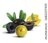 green and black olives low poly.... | Shutterstock .eps vector #1682237455