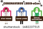 covid 19. quarantine lockdown... | Shutterstock .eps vector #1682237515