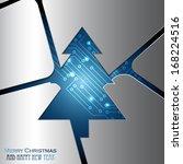 metal christmas tree background | Shutterstock .eps vector #168224516
