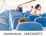 Empty Plane Interior With Few...