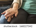 portrait of old people holding... | Shutterstock . vector #168227342