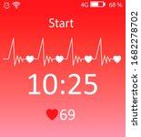 illustration of fitness tracker ... | Shutterstock . vector #1682278702