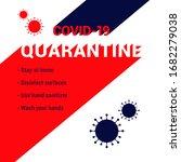 quarantine. covid 19... | Shutterstock .eps vector #1682279038