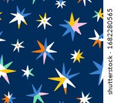 color block abstract stars on...   Shutterstock .eps vector #1682280565