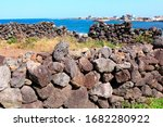 Stone Wall Used By Volcanic...