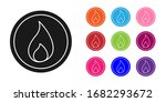 black fire flame icon isolated... | Shutterstock .eps vector #1682293672