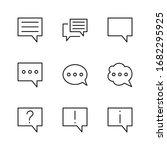 set of speech bubble chat... | Shutterstock .eps vector #1682295925