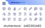 outline icons about coronavirus ... | Shutterstock .eps vector #1682301682