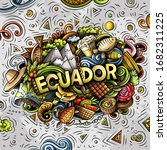 ecuador hand drawn cartoon... | Shutterstock .eps vector #1682311225