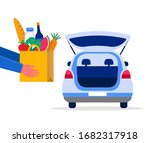 food delivery service concept ...   Shutterstock .eps vector #1682317918