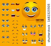 yellow emoticon face  emotion... | Shutterstock .eps vector #1682325505