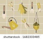 vector set of garden... | Shutterstock .eps vector #1682333485