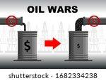 oil crisis concept. decrease or ... | Shutterstock .eps vector #1682334238