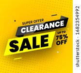 super offer clearance sale... | Shutterstock .eps vector #1682354992