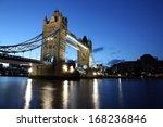 evening tower bridge  london  uk | Shutterstock . vector #168236846