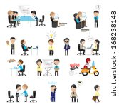 business peoples   isolated on...   Shutterstock .eps vector #168238148