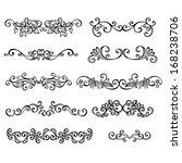 vector set  calligraphic... | Shutterstock .eps vector #168238706