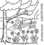 spring coloring book for kids   Shutterstock . vector #1682391598