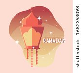 illuminated lamp with label...   Shutterstock .eps vector #1682393098