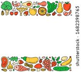 poster with doodle colored... | Shutterstock .eps vector #1682398765