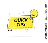 quick tips  useful banner tips. ... | Shutterstock .eps vector #1682402485